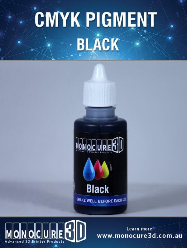 Pigmento colorante negro para resina Monocure