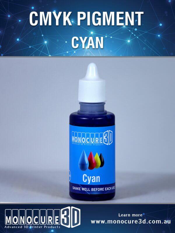 Pigmento colorante Cyan para resina Monocure