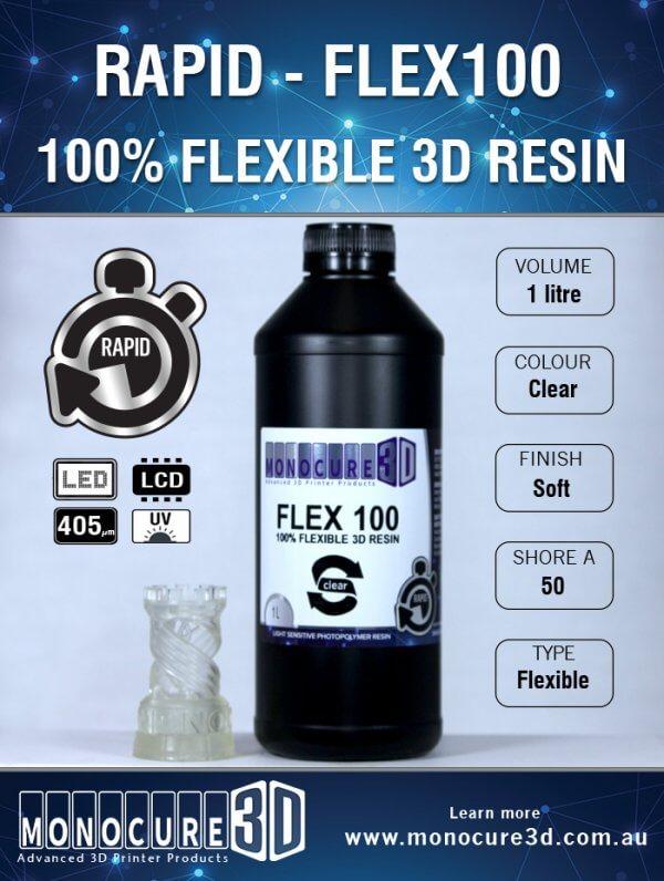 1 Litro Resina Rapid Monocure Flexible SLA